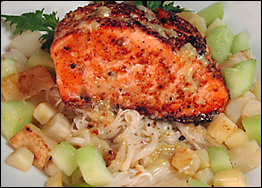 Pine Nut Crusted Salmon