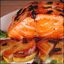 Salmon with nori