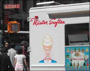 Mr Softee truck NYC