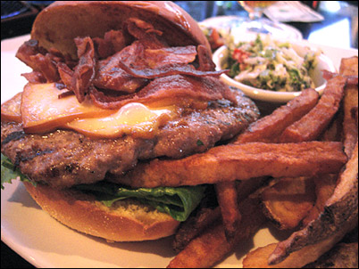 Wild Boar Burger at Hop Haus